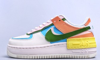 WMNS Air Force 1 Shadow White Multi Orange Custom,Do You Like This Color?
