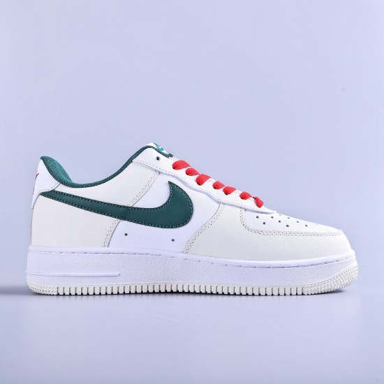 "Nike Air Force 1 Low White ""Beige Green Red"""