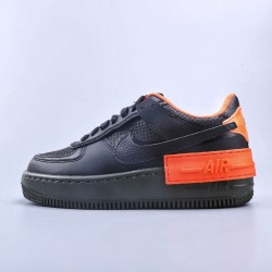 "WMNS Air Force 1 Shadow Black ""Hyper Crimson Cargo Khaki"""