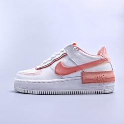 """WMNS Air Force 1 Shadow White """"Coral Pink"""""""