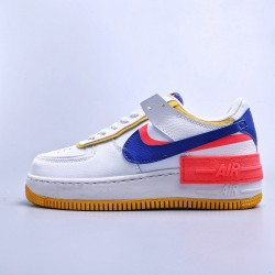 "WMNS Air Force 1 Shadow White ""Flash Crimson Astronomy"" Blue"